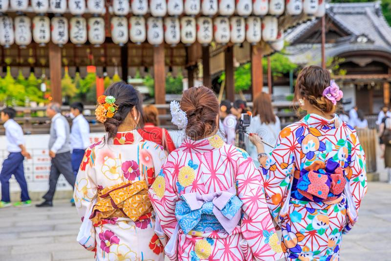 Yasaka Shrine in spring stock photography