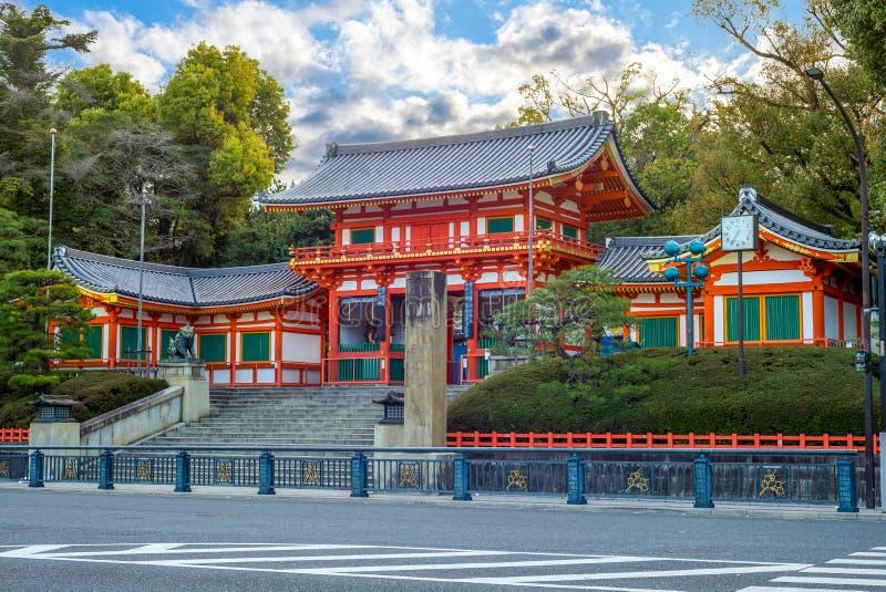 Yasakaheiligdom, of Gion Shrine, in Kyoto, Japan stock fotografie