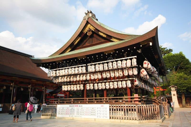 Yasakaheiligdom Kyoto, Japan stock afbeelding