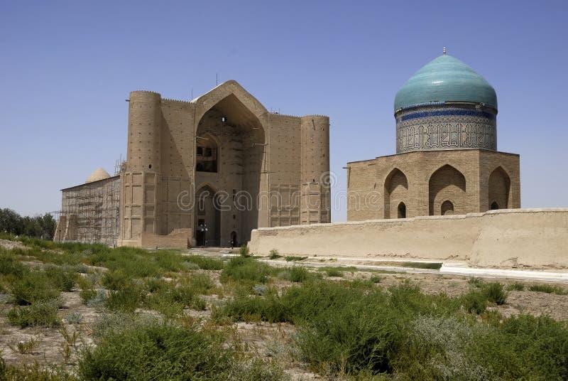Yasaui Mausoleum in Turkistan lizenzfreie stockfotografie