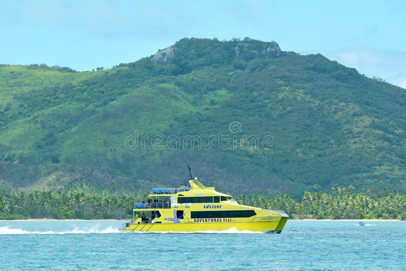 Yasawa Flyer fast catamaran Fiji stock photos
