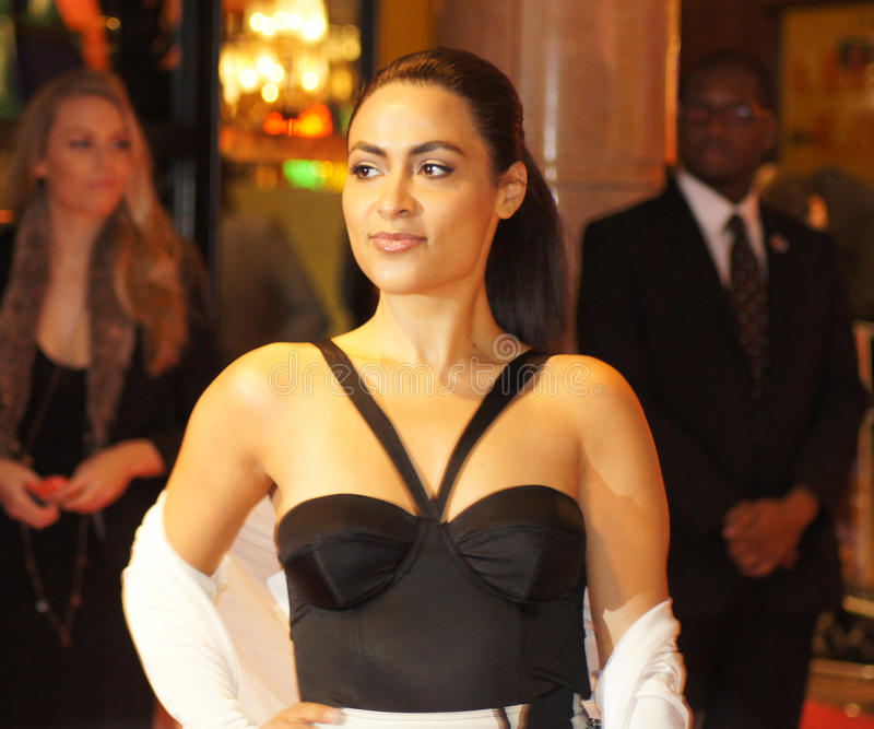 Yasmine Elmasri bij de Première Miral royalty-vrije stock afbeelding