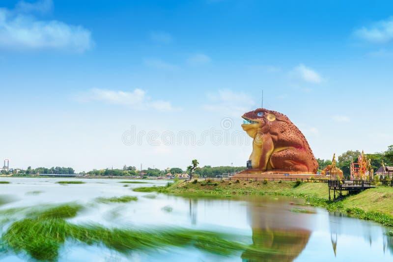 Yasothon, Thailand - Mei 6, 2017: Standbeeld van Phaya Kan Kark The royalty-vrije stock afbeeldingen