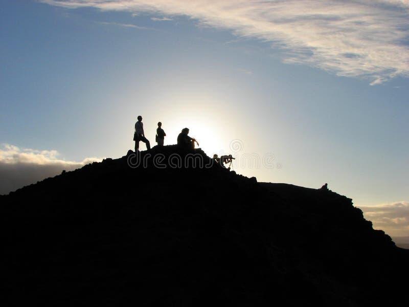 yasur för mt-solnedgångvanuatu vulkan arkivfoto