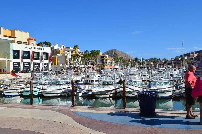 Yatch club in Los Cabos, Baja California. Mexico royalty free stock photos