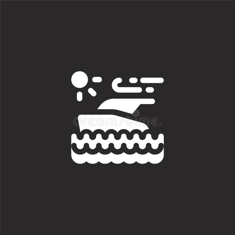 yatch pictogram Gevuld yatch pictogram voor websiteontwerp en mobiel, app ontwikkeling yatch pictogram van gevulde geïsoleerde de royalty-vrije illustratie