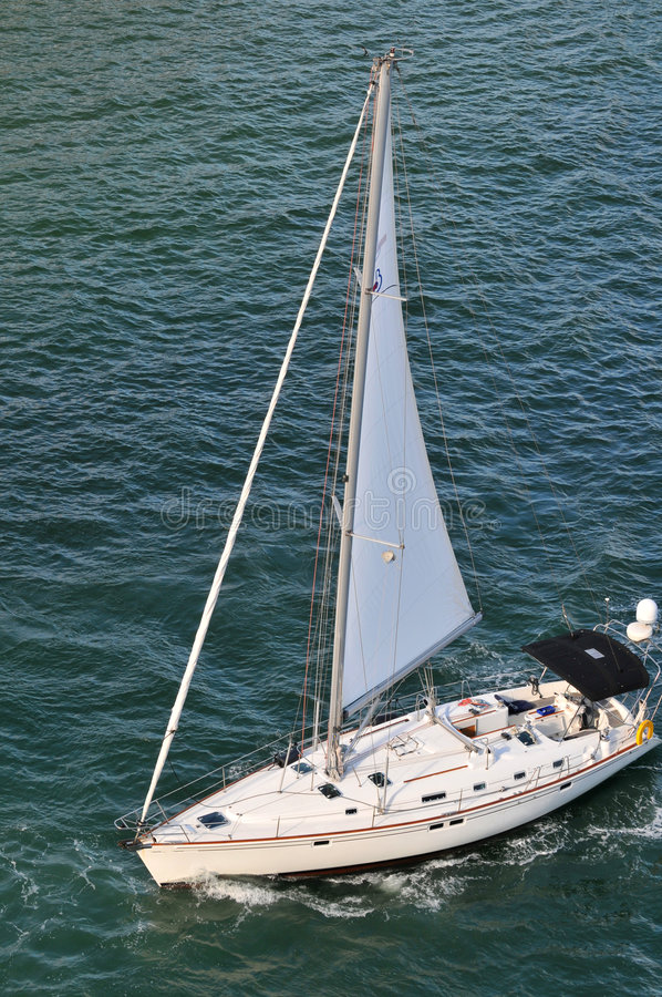 Yatch Sailing ON View from Above stock photos