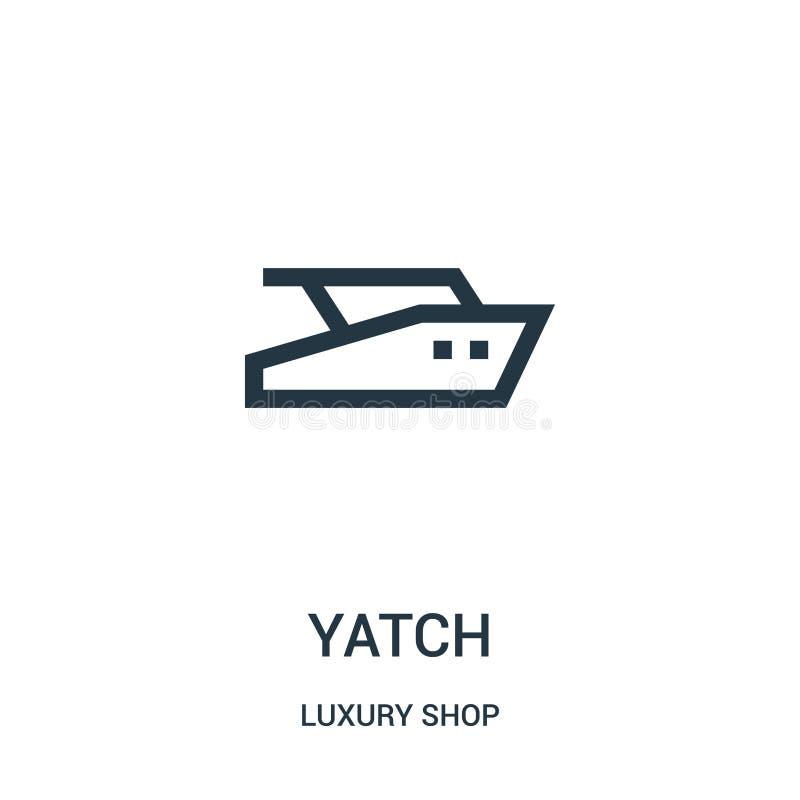 yatchsymbolsvektorn från lyx shoppar samlingen Tunn linje illustration för vektor för yatchöversiktssymbol vektor illustrationer