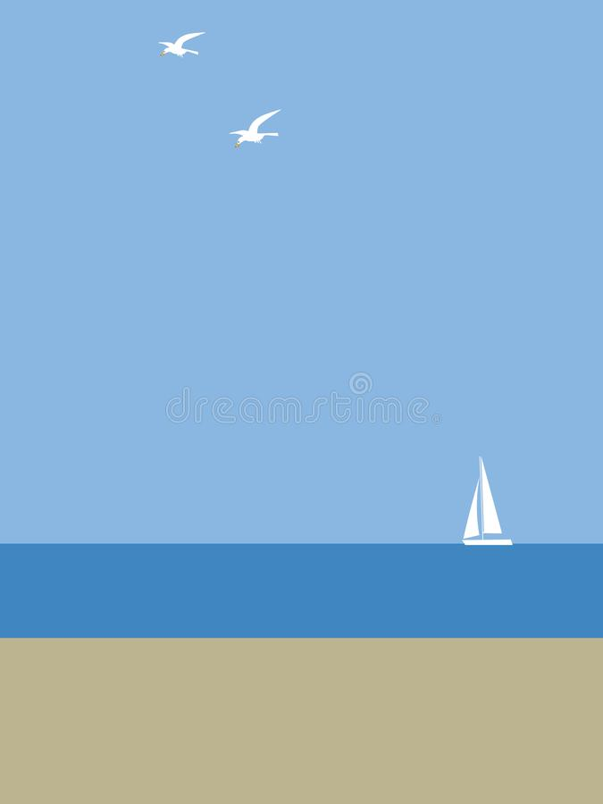 Yate por el mar libre illustration