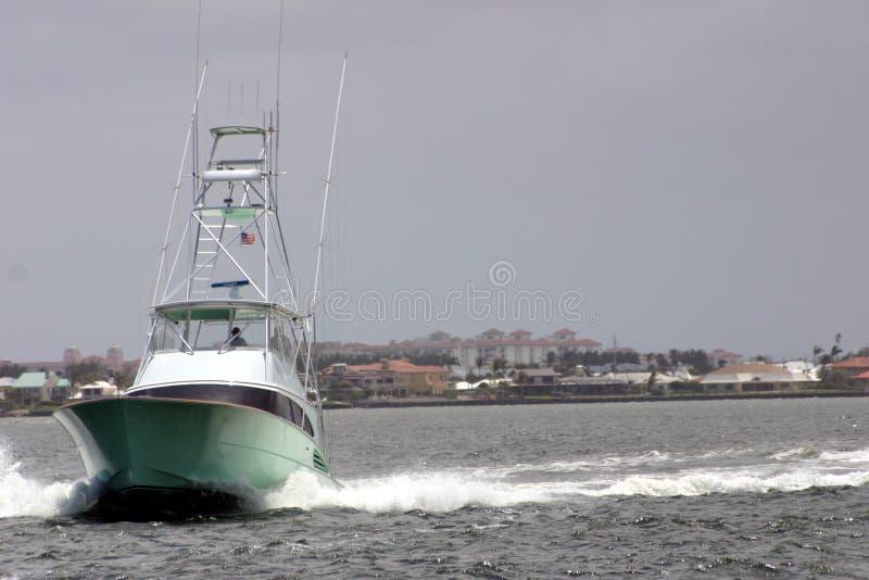 Yate rápido del barco de pesca imagen de archivo