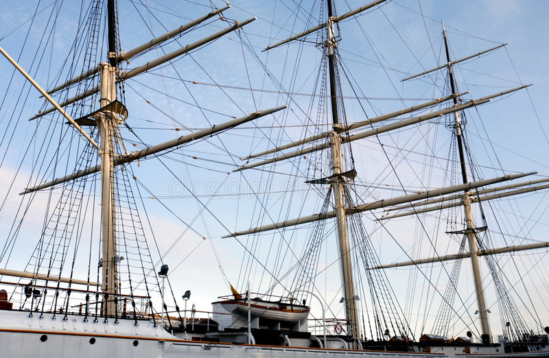 yate Tres-masted foto de archivo libre de regalías