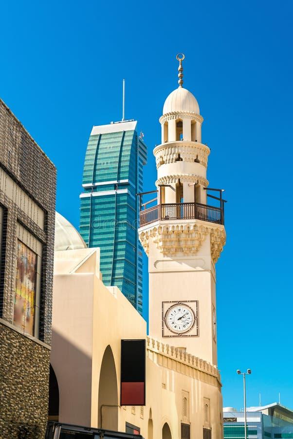 Yateem-Moschee in der alten Stadt von Manama, die Hauptstadt von Bahrain lizenzfreie stockbilder