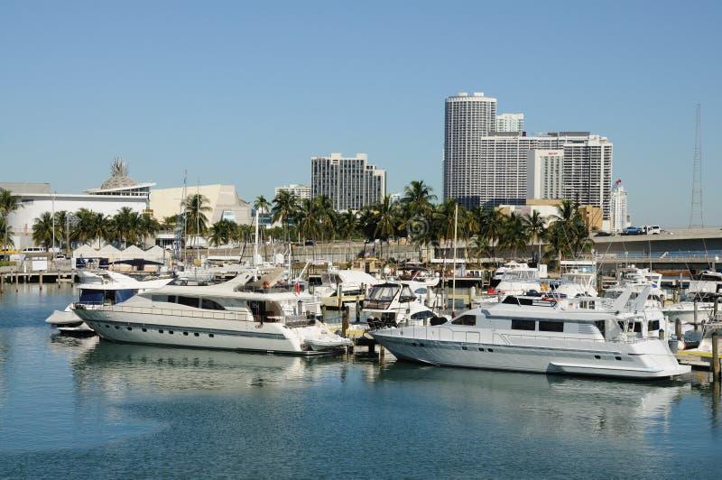 Yates del motor en Miami fotos de archivo libres de regalías
