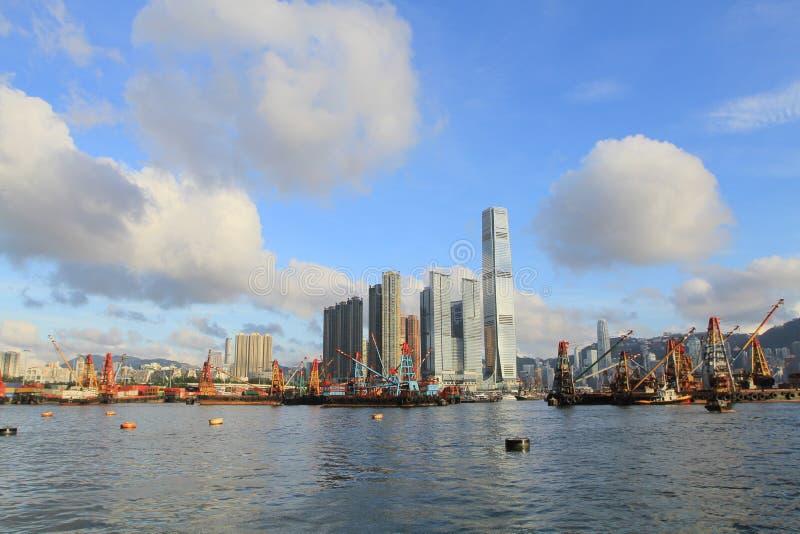 Yau Ma Tei tajfunu schronienie zachodni Kowloon zdjęcie royalty free