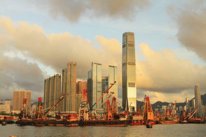Yau Ma Tei tajfunu schronienie zachodni Kowloon zdjęcia stock