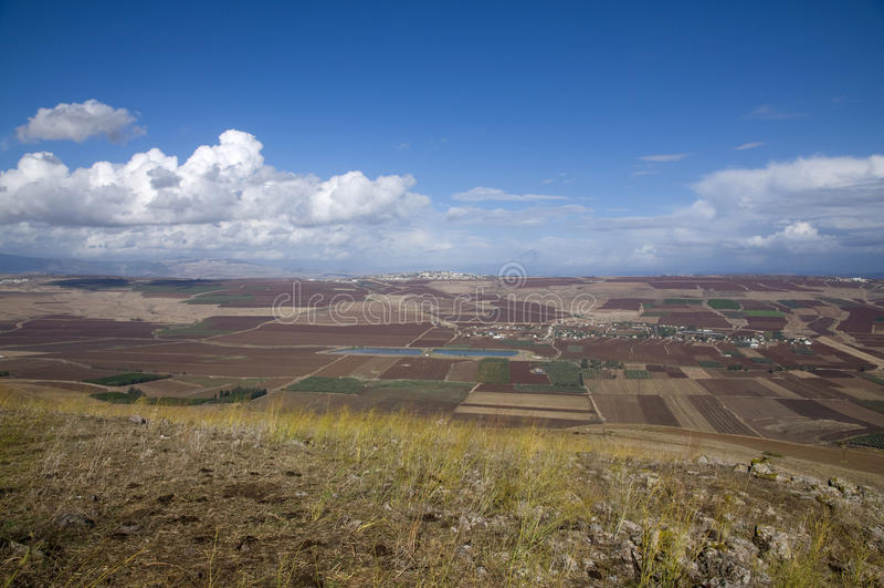 Yavne'el valley. Fields view in Yavne'el valley royalty free stock images