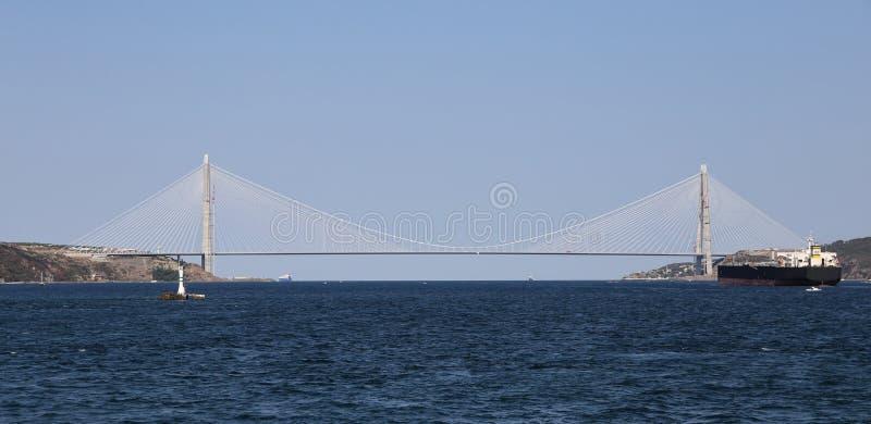 Yavuz Sultan Selim Bridge i Istanbul arkivbild