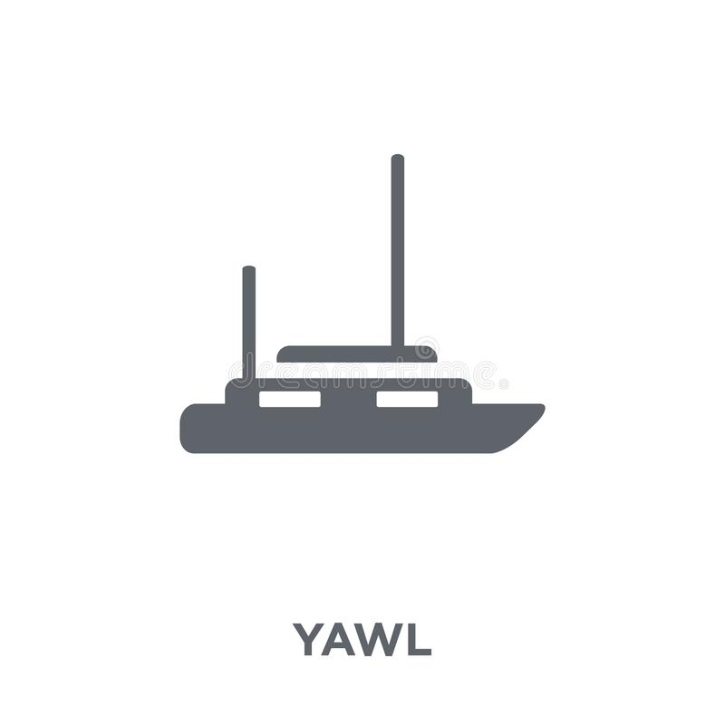 yawl icon from Transportation collection. royalty free illustration