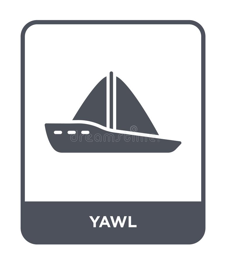 yawl icon in trendy design style. yawl icon isolated on white background. yawl vector icon simple and modern flat symbol for web stock illustration