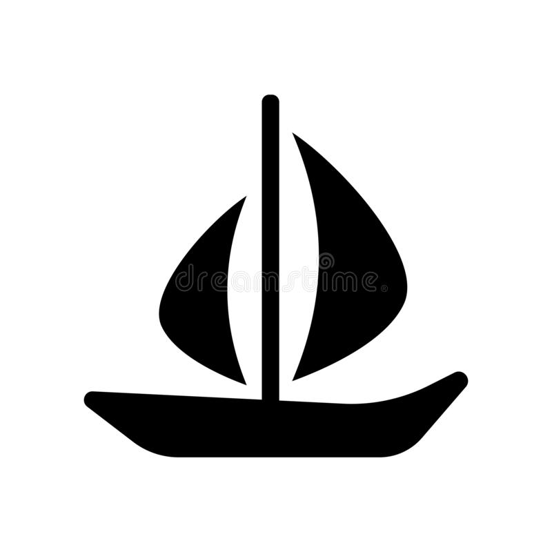 yawl icon. Trendy yawl logo concept on white background from Transportation collection royalty free illustration