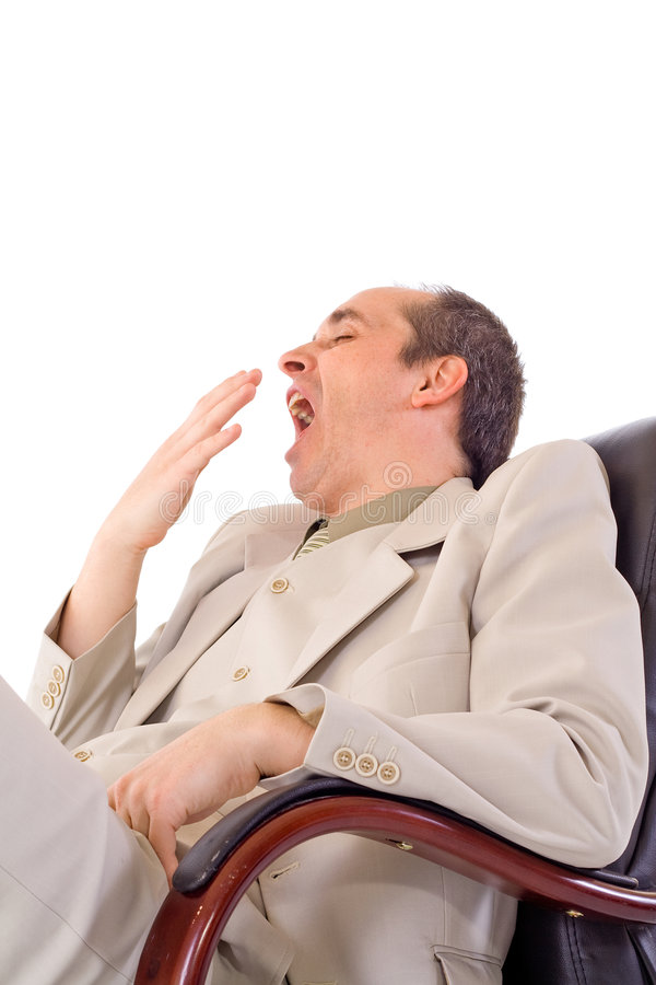 Yawn in business royalty free stock photos