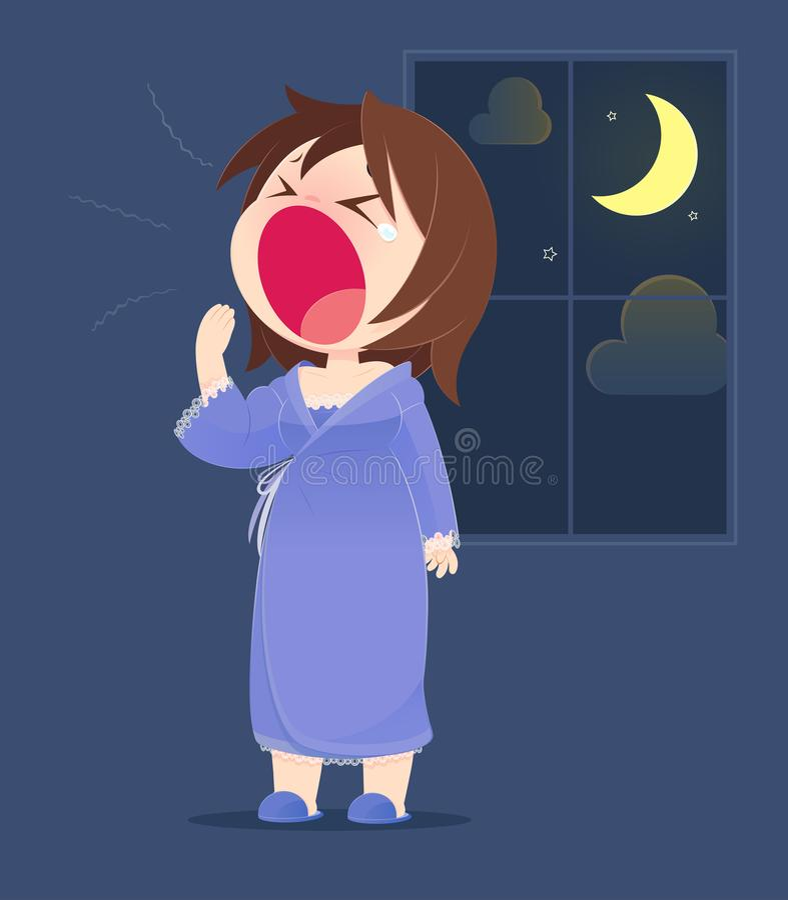 yawning libre illustration