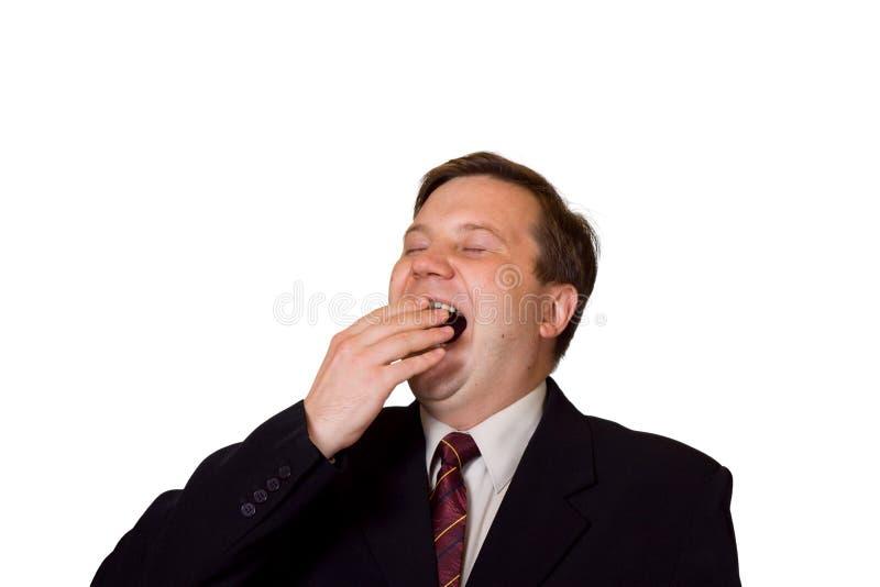 Yawning man stock photography