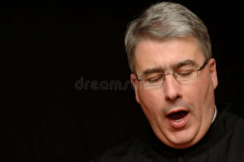 Download Yawning priest stock photo. Image of isolated, background - 2153246