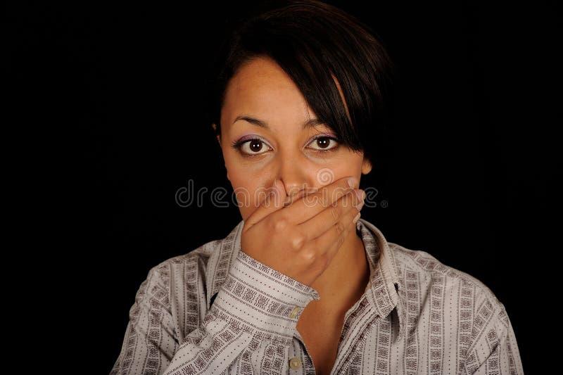 Yawning woman royalty free stock photos