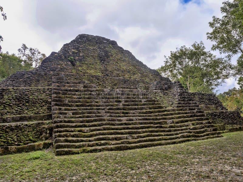 Yaxha Nakum Naranjo National Park, Mayan Archaeological Monument, Guatemala royalty free stock image