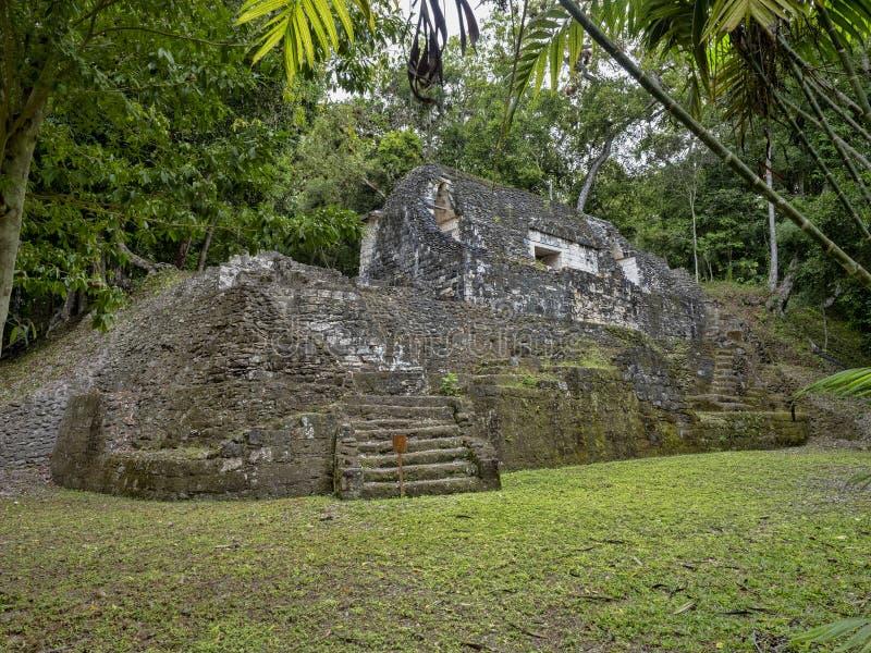 Yaxha Nakum Naranjo National Park, Mayan Archaeological Monument, Guatemala royalty free stock photo