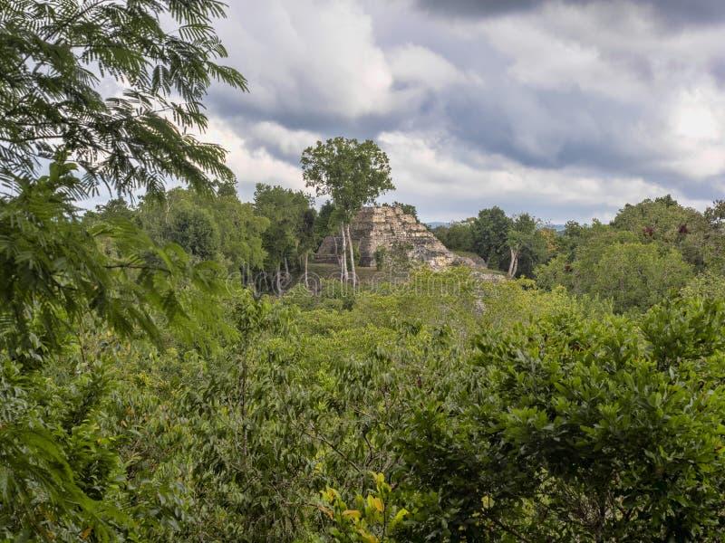 Yaxha Nakum Naranjo National Park, Mayan Archaeological Monument, Guatemala stock photography