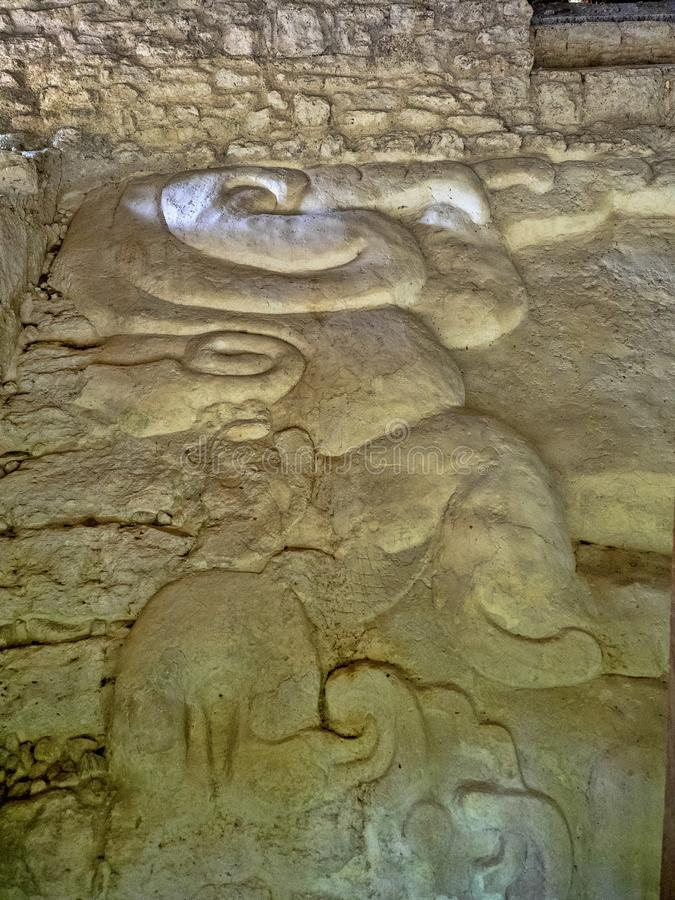 Yaxha Nakum Naranjo National Park, Mayan Archaeological Monument, Guatemala royalty free stock photography