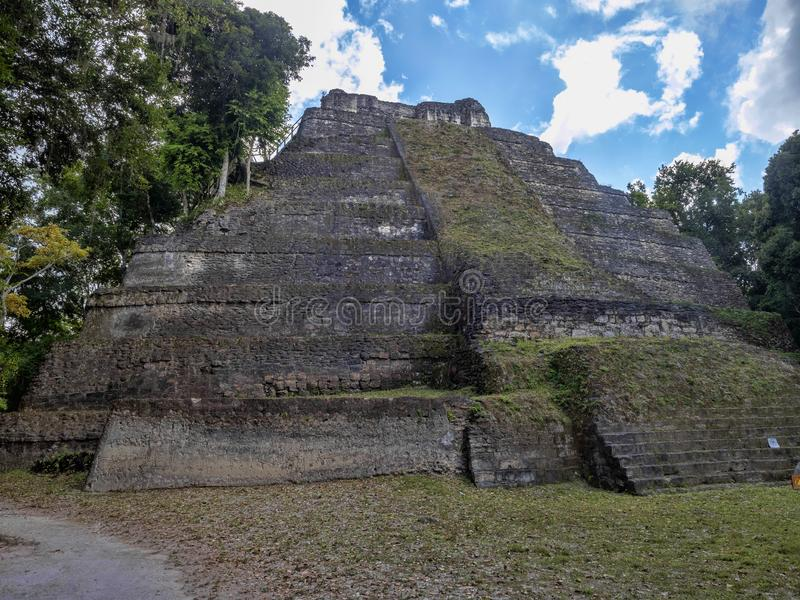 Yaxha Nakum Naranjo National Park, Mayan Archaeological Monument, Guatemala stock image