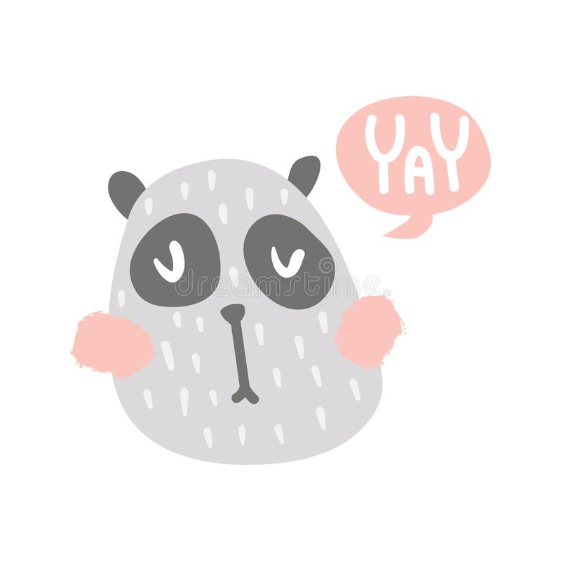 Yay panda royalty free illustration