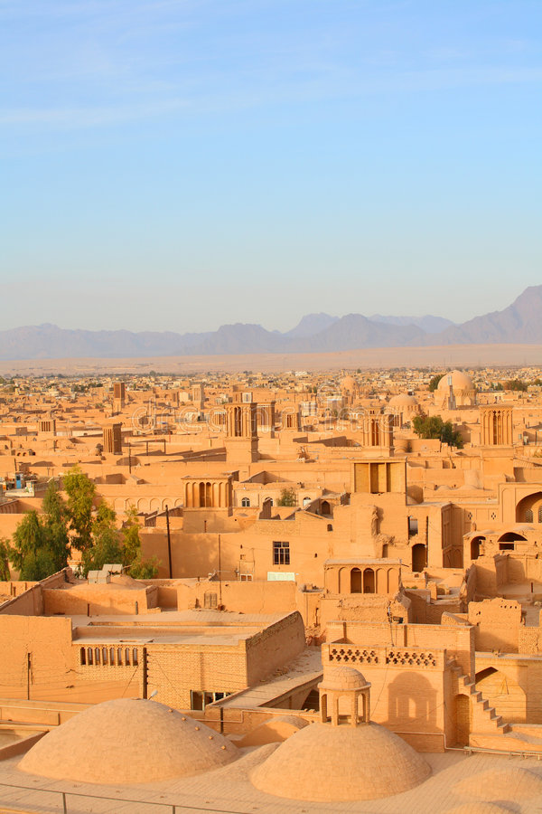 Yazd, Iran. Ancient city of Yazd, Iran royalty free stock images