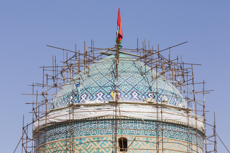 YAZD, IRAN - 7 OTTOBRE 2016: Jame Mosque di Yazd nell'Iran E immagine stock