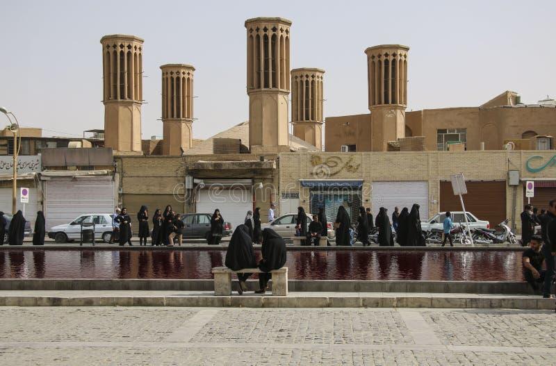 YAZD, IRAN-SEPTEMBER 20,2018: Ashura - día santo islámico; días de foto de archivo libre de regalías