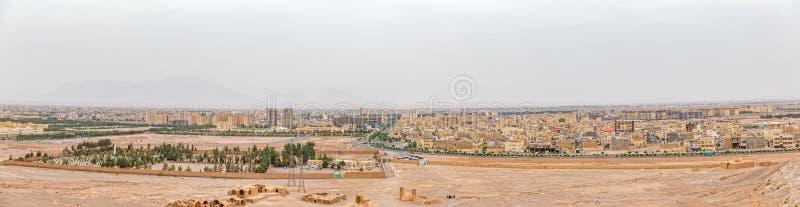 Yazd panoramautsikt fotografering för bildbyråer