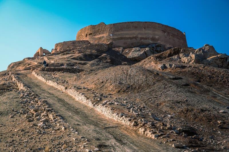 Yazd torn av tystnad royaltyfri bild