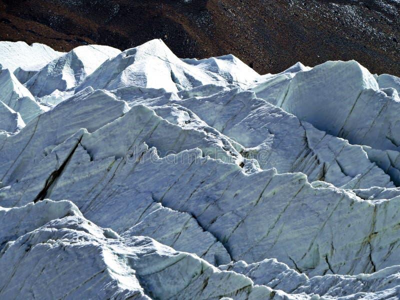 Yazghil Glacier in Shimshal valley, Karakoram, Northern Pakistan royalty free stock image
