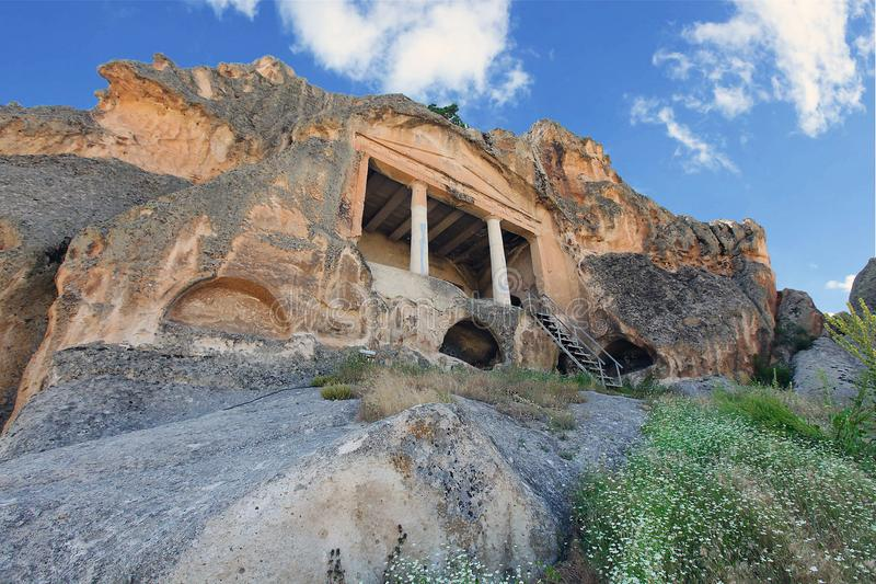 Yazilikaya wygłupy miasto, Eskisehir, Turcja obraz royalty free