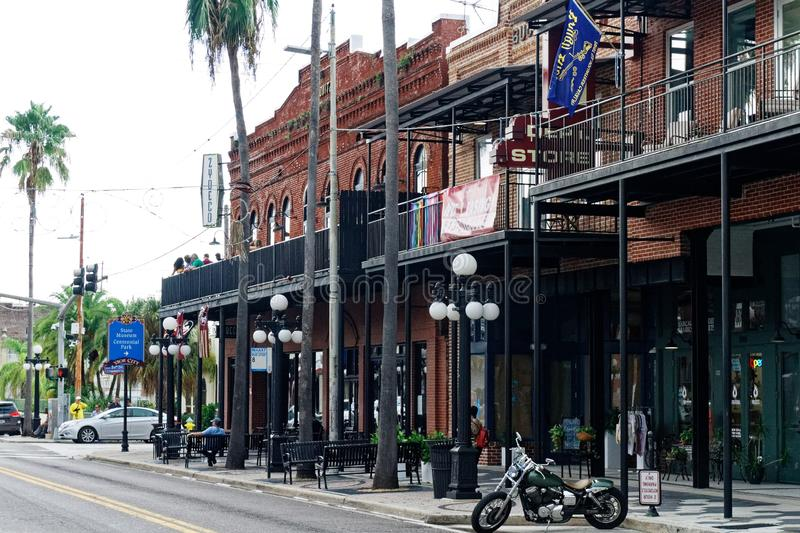 Ybor City  the historical Tampa District stock image