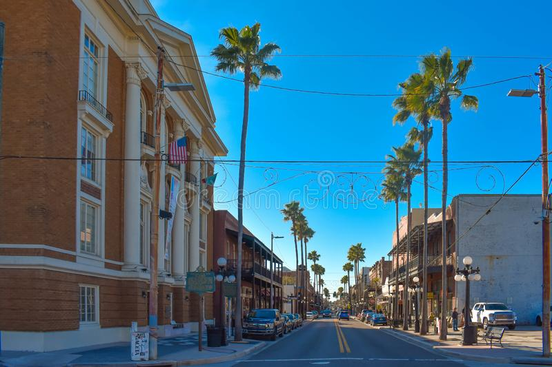 Panoramic view of Old Italian Club Life and 7th Ave. royalty free stock photos