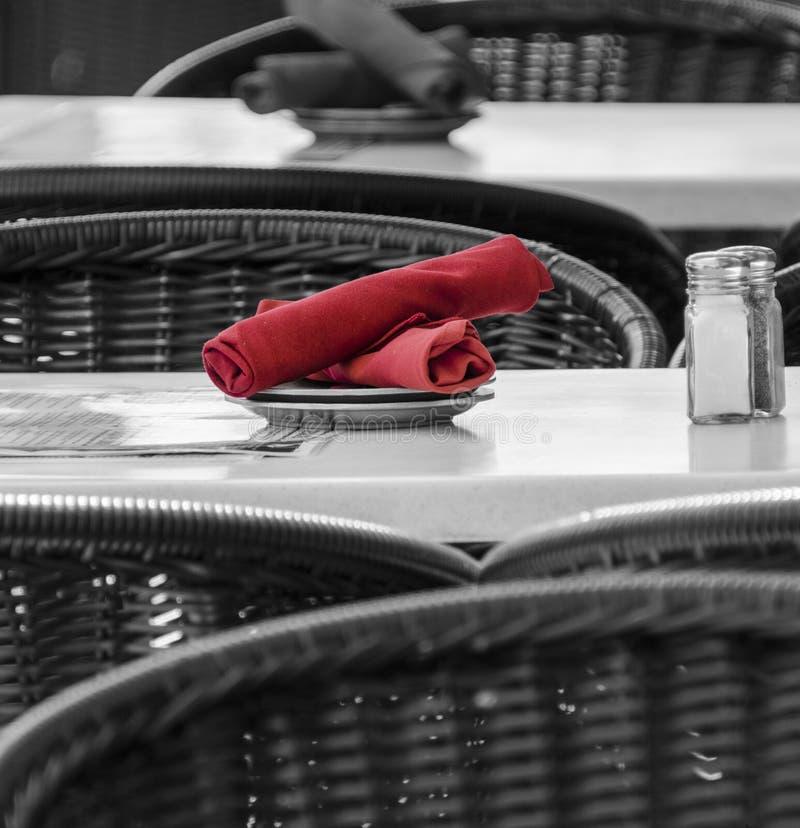 Ybor-Stadt-Straßen-Café-Gedeck lizenzfreie stockbilder