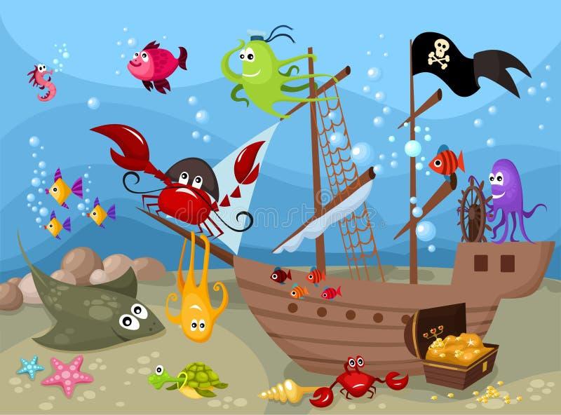 Download życia morze ilustracja wektor. Obraz złożonej z zaciemnia - 22218816