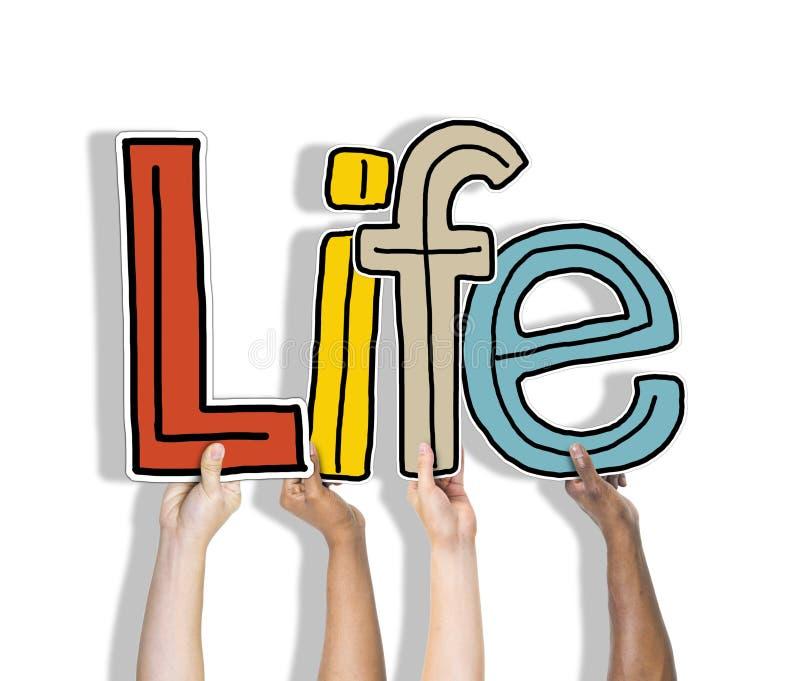 Życia Żywy Być oddechem Istnieje narodziny pojęcie obrazy royalty free