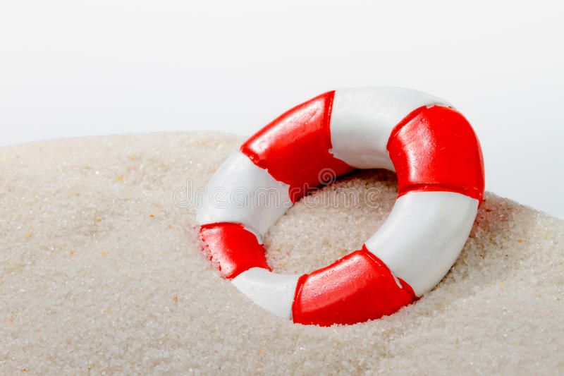 Życie Bezpieczny przy plażą zdjęcia stock