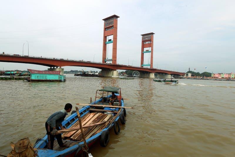 Życie codzienne w Palembang, Sumatera, Indonezja fotografia royalty free