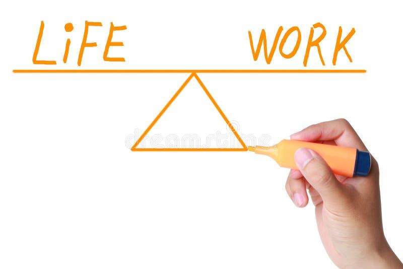 Życie i pracy równowaga obrazy stock